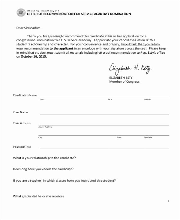 Letter Of Recommendation Military Elegant Military Letter Re Mendation Examples Letter Of