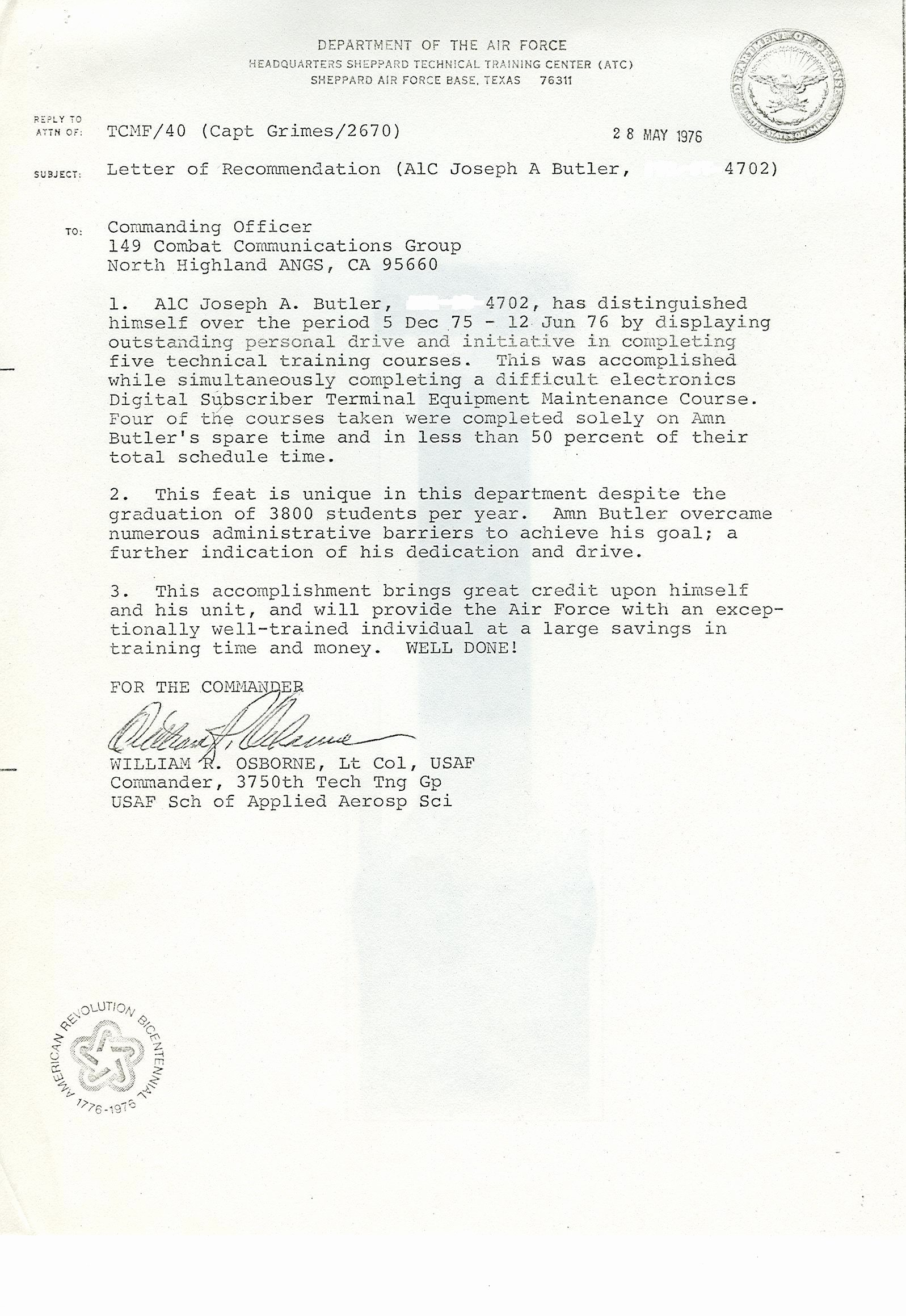 Letter Of Recommendation Military Lovely Military Letter Of Re Mendation