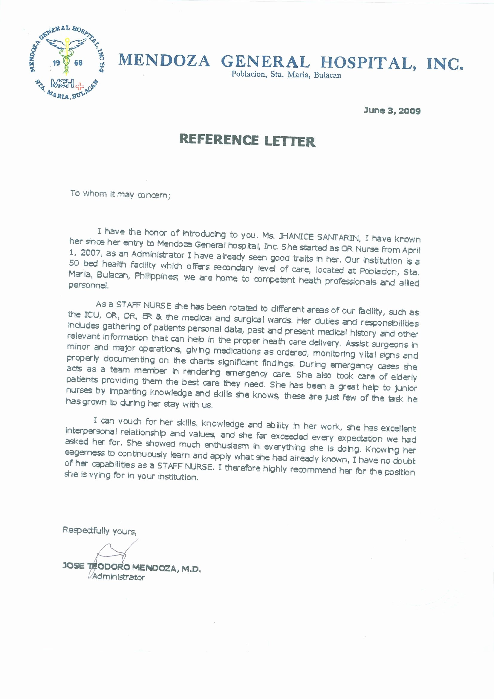 Letter Of Recommendation Nurse Lovely 16 Registered Nurse Diploma