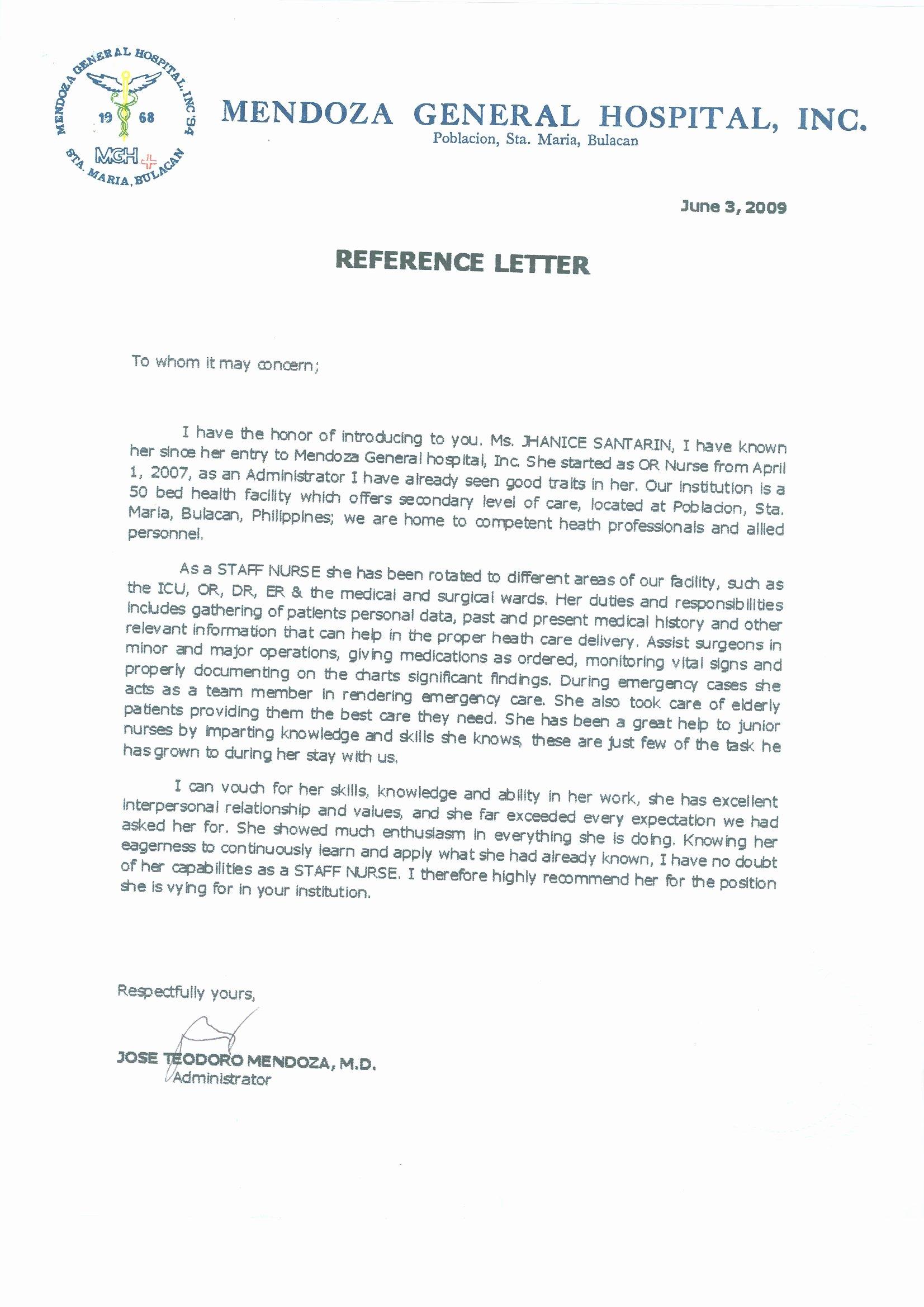 Letter Of Recommendation Nurse Lovely 16 Registered Nurse Diploma