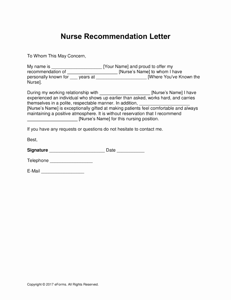 Letter Of Recommendation Nursing Student New Nursing Re Mendation Letter From Supervisor – Perfect