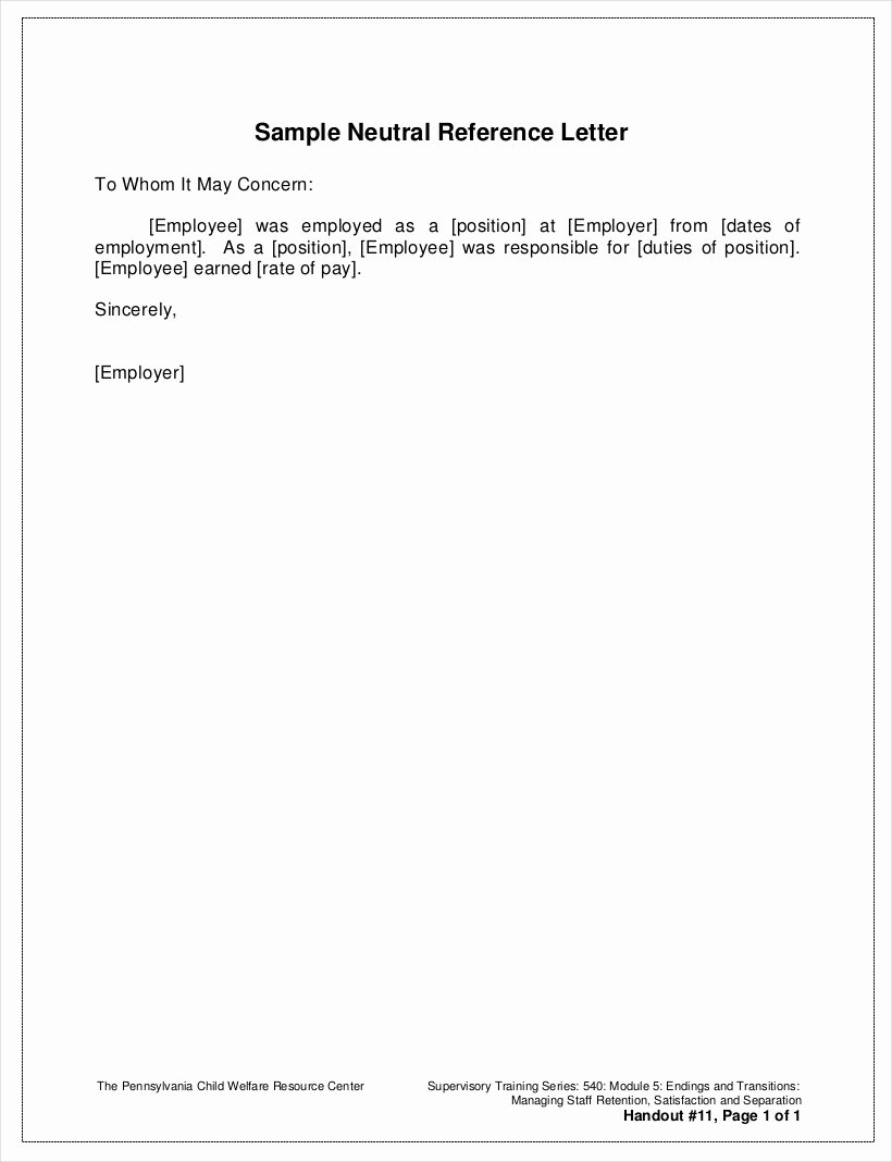Letter Of Recommendation or Reference Elegant 9 Employee Reference Letter Examples & Samples In Pdf