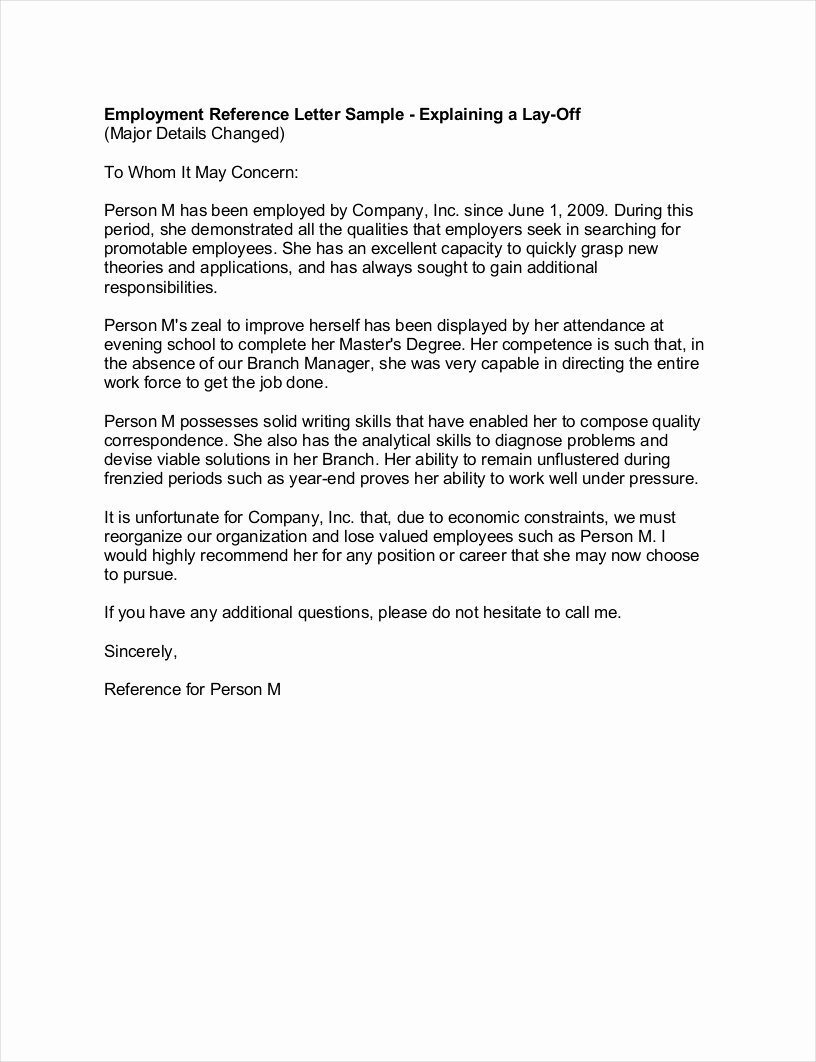 Letter Of Recommendation or Reference Inspirational 9 Employee Reference Letter Examples & Samples In Pdf