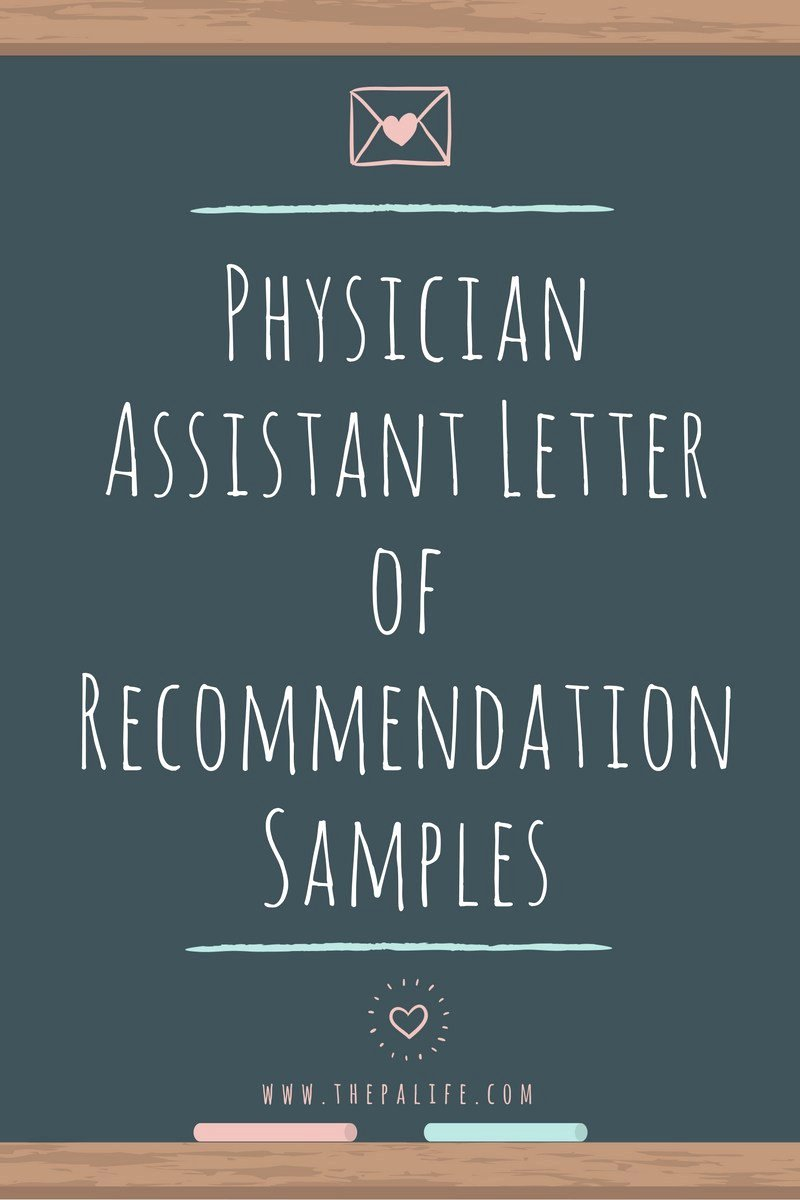 Letter Of Recommendation Pa School Unique Physician assistant School Application Re Mendation
