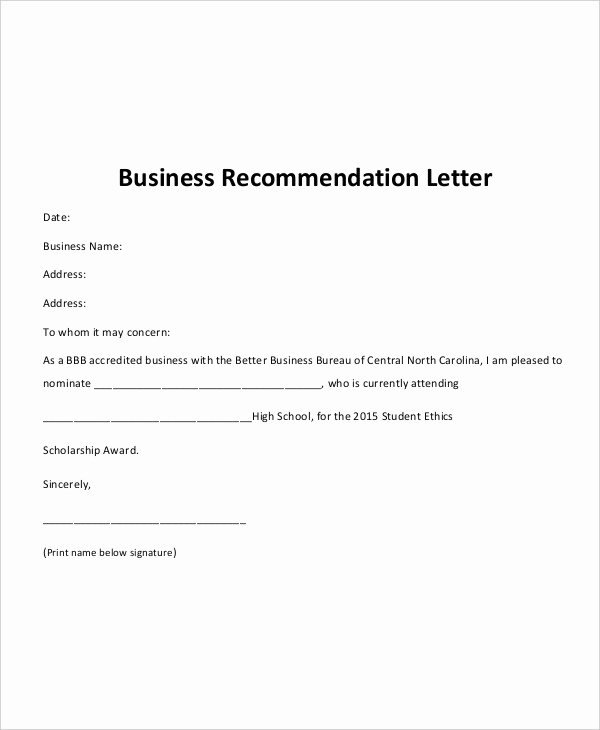 Letter Of Recommendation Pdf Fresh 40 Re Mendation Letter Templates In Pdf