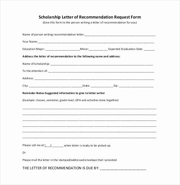 Letter Of Recommendation Pdf Inspirational 27 Letters Of Re Mendation for Scholarship Pdf Doc