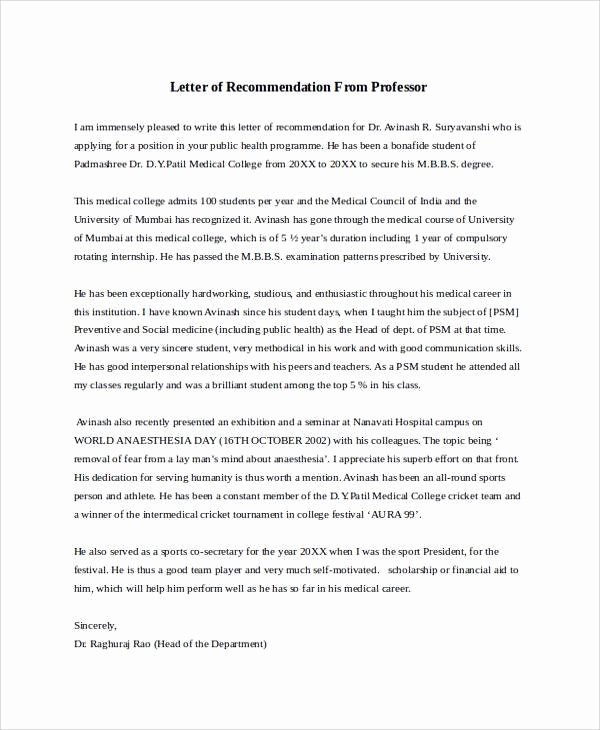 Letter Of Recommendation Peer Awesome 28 Letter Of Re Mendation In Word Samples