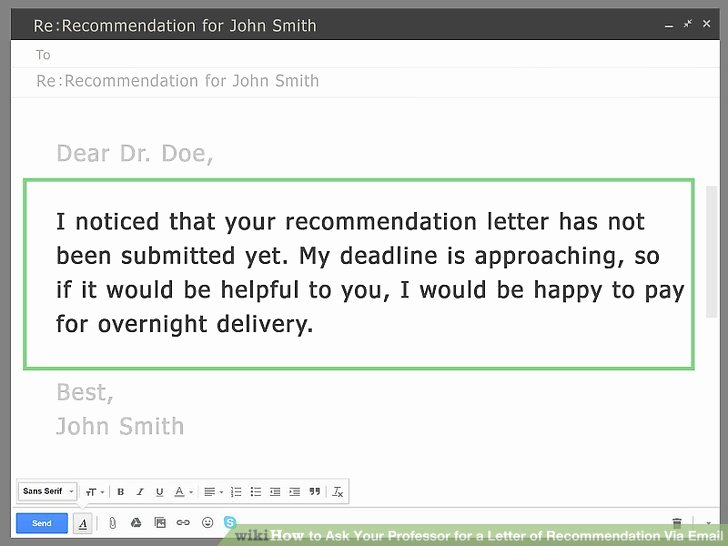 Letter Of Recommendation Reminder Email Fresh How to ask Your Professor for A Letter Of Re Mendation