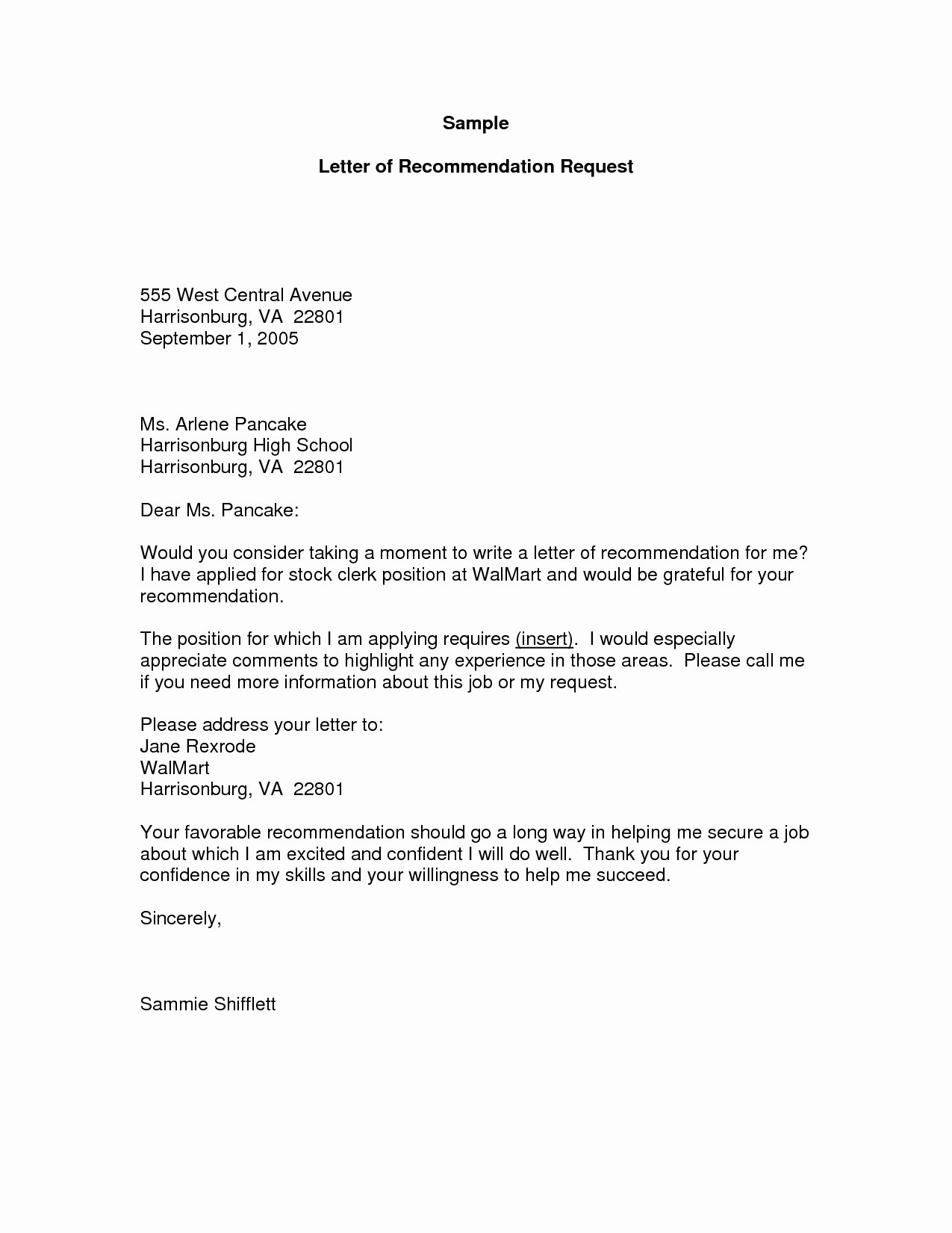 Letter Of Recommendation Request Best Of Letter Re Mendation Request Template