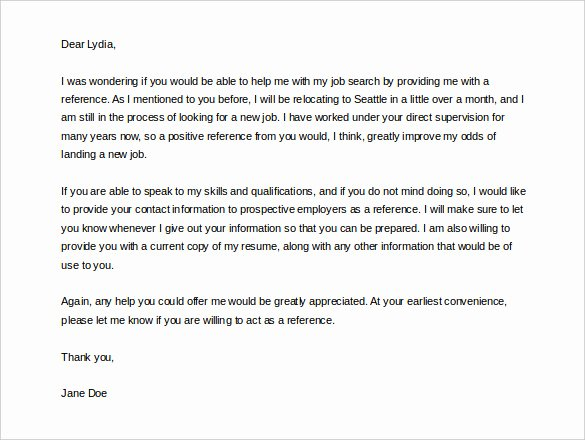 Letter Of Recommendation Request Samples Inspirational 42 Reference Letter Templates Pdf Doc
