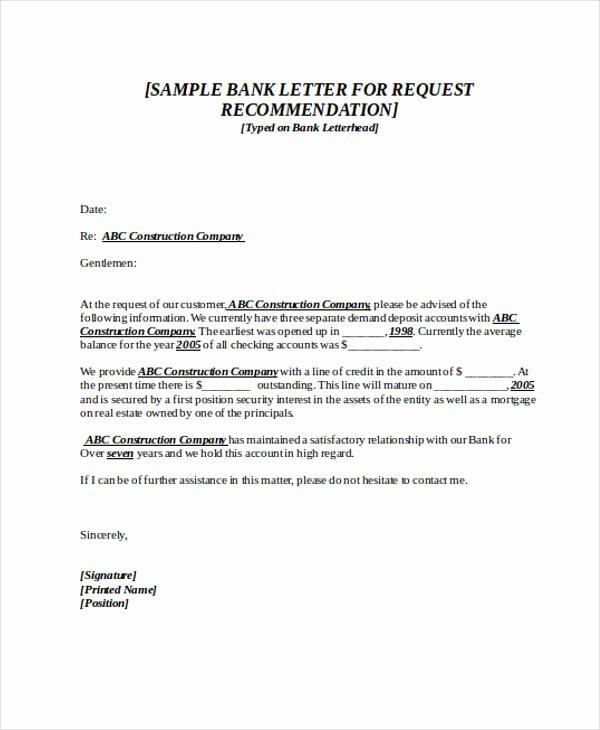 Letter Of Recommendation Request Unique 89 Re Mendation Letter Examples & Samples Doc Pdf