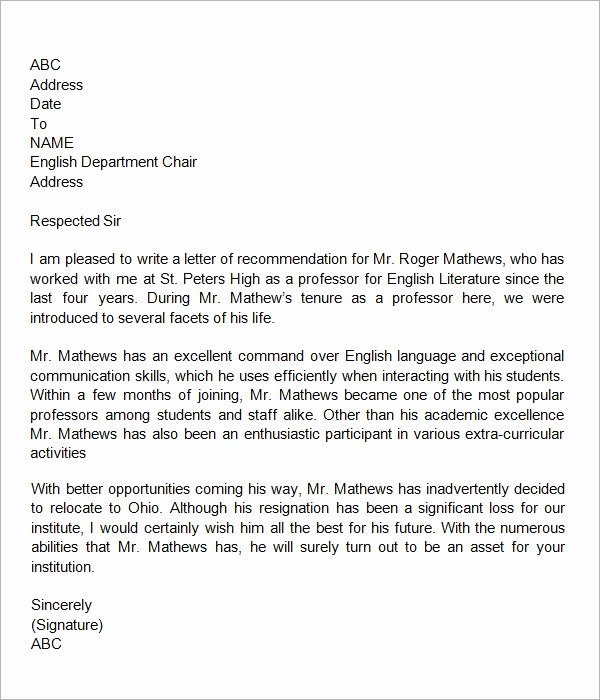 Letter Of Recommendation Requirements Best Of Writing A Letter Of Re Mendation Kindergarten