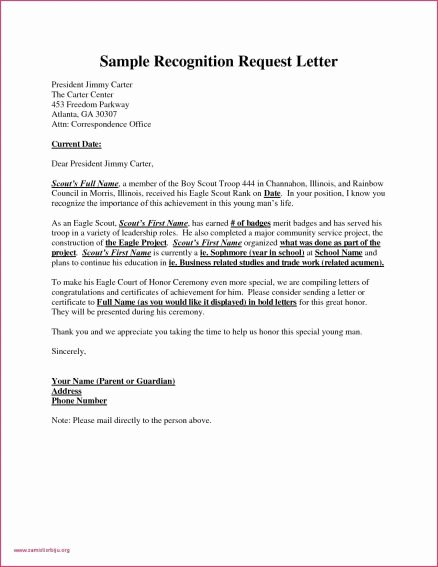 Letter Of Recommendation Requirements Elegant Eagle Scout Letters Re Mendation Letter Template 2018