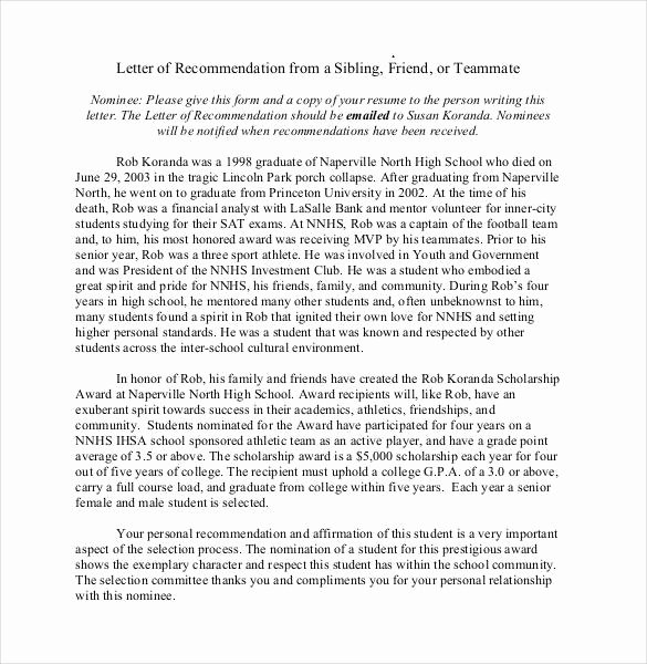 Letter Of Recommendation Requirements Lovely 23 Friend Re Mendation Letters Pdf Doc
