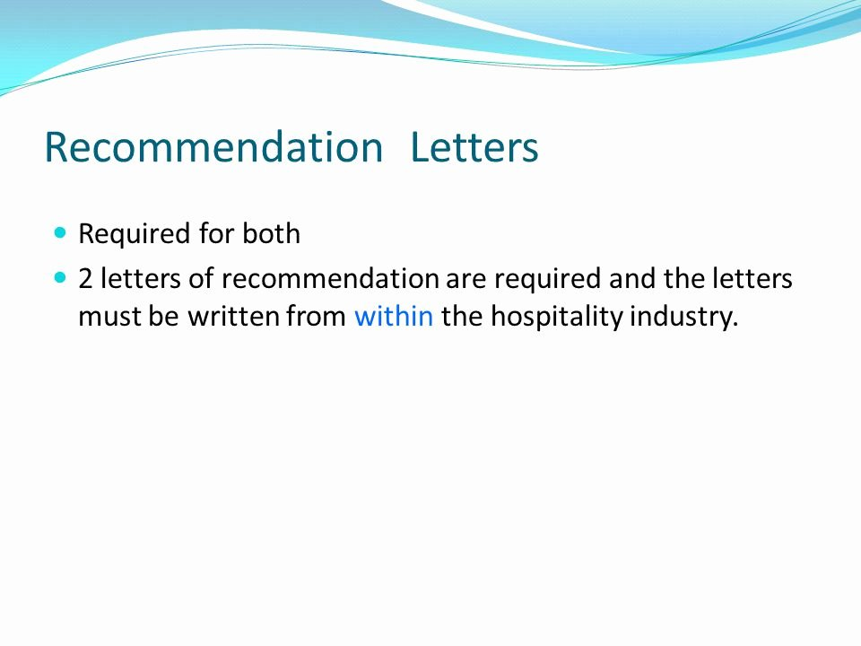Letter Of Recommendation Requirements Luxury Hftp's Chae & Chtp Certification Programs Ppt