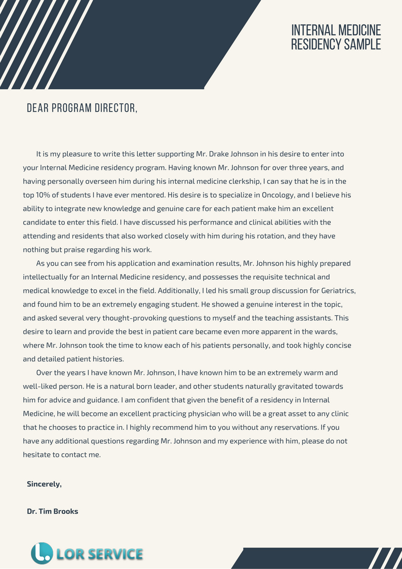 Letter Of Recommendation Residency Best Of Pin by Lor Samples Uk On Internal Medicine Residency Lor