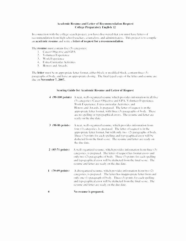 Letter Of Recommendation Resume Fresh Scholarship Re Mendation Letter Examples Templates and