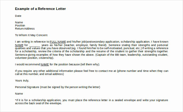 Letter Of Recommendation Signature Elegant 42 Reference Letter Templates Pdf Doc