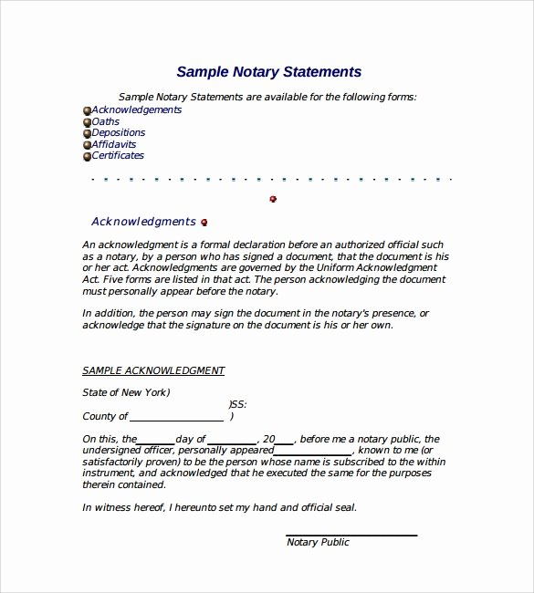 Letter Of Recommendation Signature Fresh Notarized Letter 8 Download Free Documents In Pdf Word