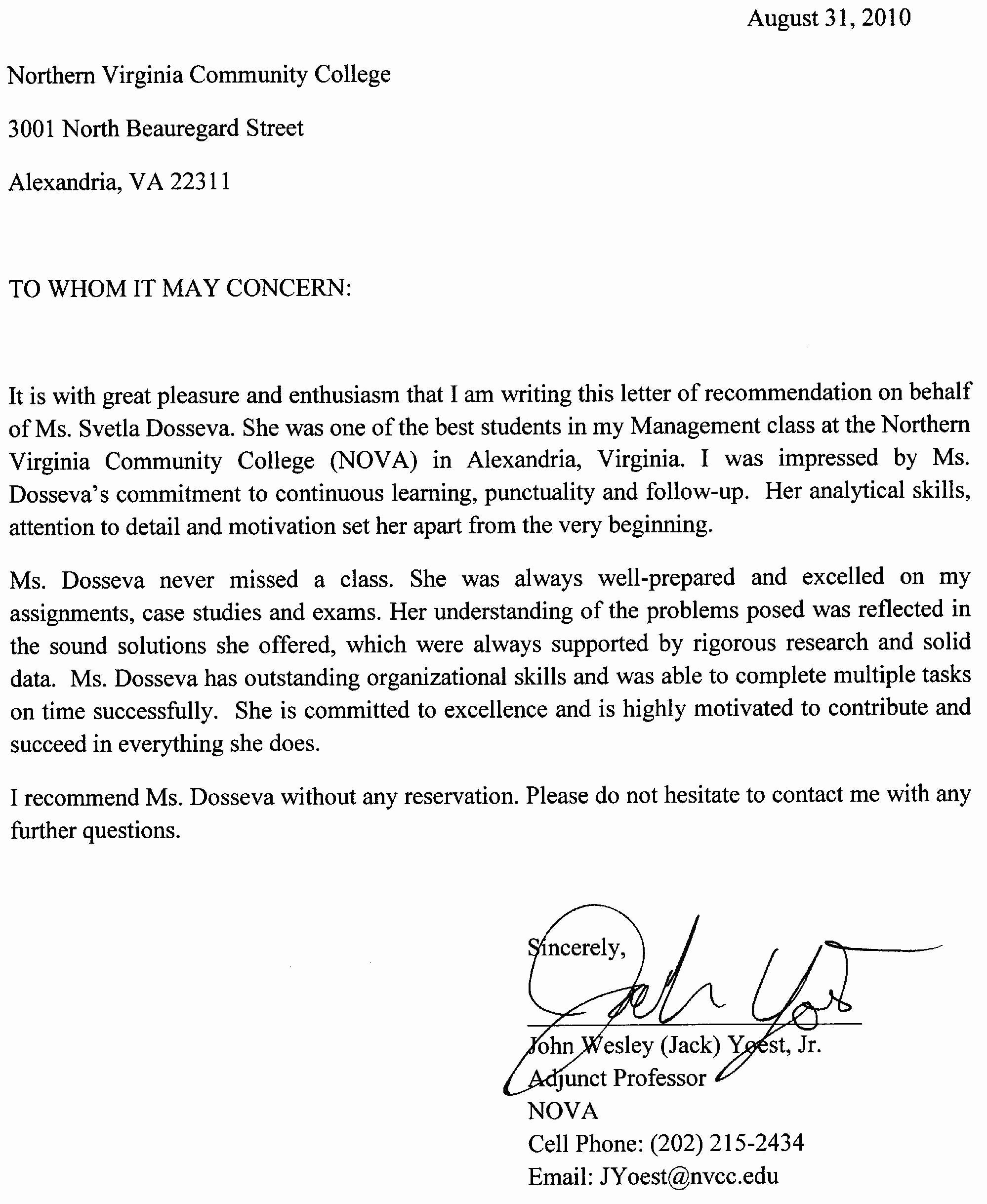 Letter Of Recommendation Signature Unique the Reference Letter How to Get E How to Write A