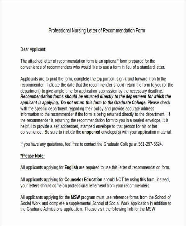 Letter Of Recommendation social Work Elegant 89 Re Mendation Letter Examples & Samples Doc Pdf