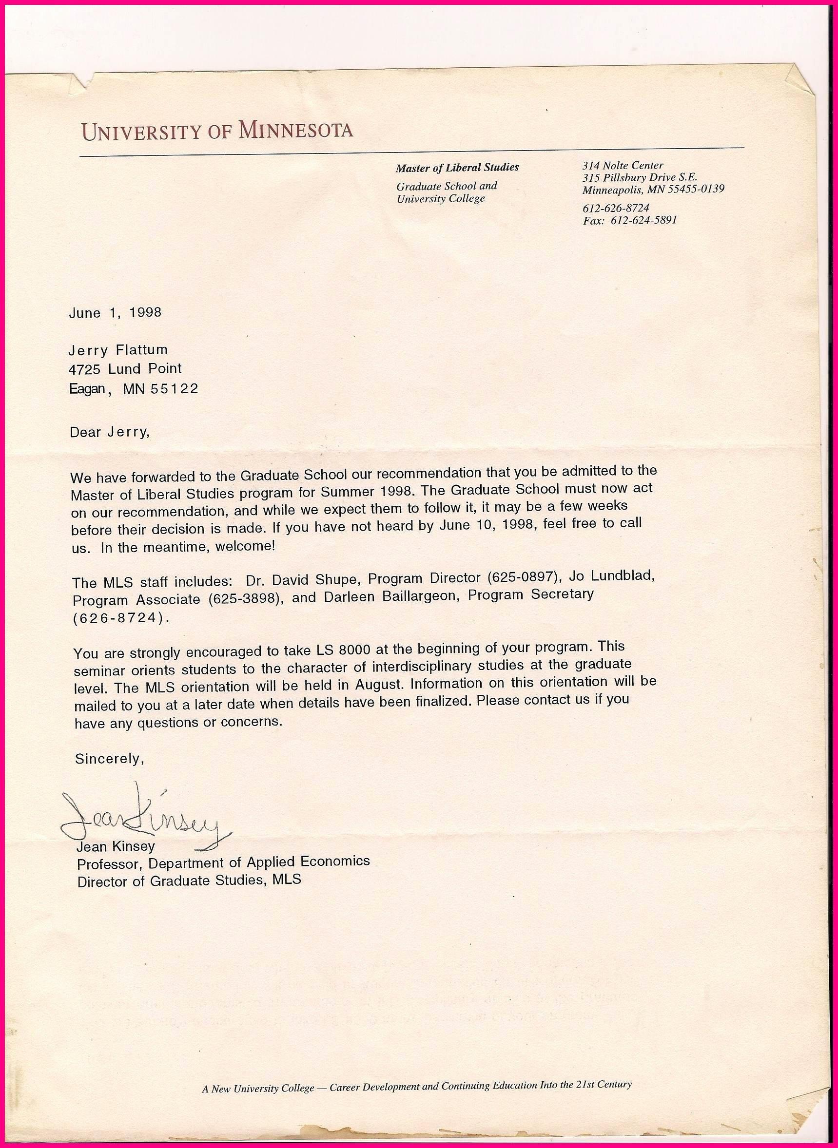 Letter Of Recommendation social Work Elegant Sample Re Mendation Letter for Graduate Student