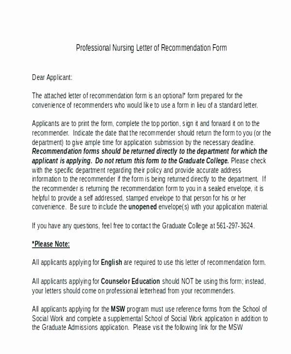 Letter Of Recommendation social Work Elegant Sample Reference Letter for social Worker