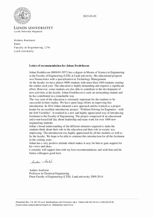Letter Of Recommendation social Work New Sample Letter Re Mendation for School social Work