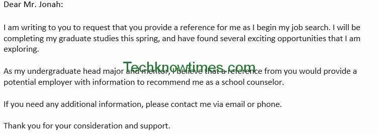 Letter Of Recommendation Subject Line Elegant Letter to Professor for Re Mendation