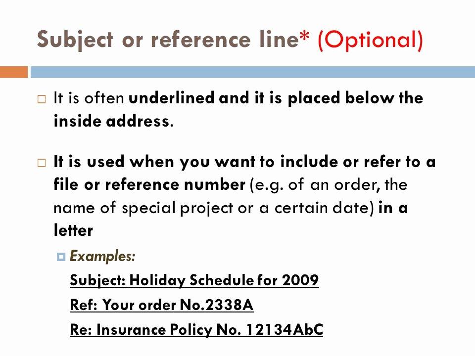 Letter Of Recommendation Subject Line New Letter & Memo Ppt Video Online