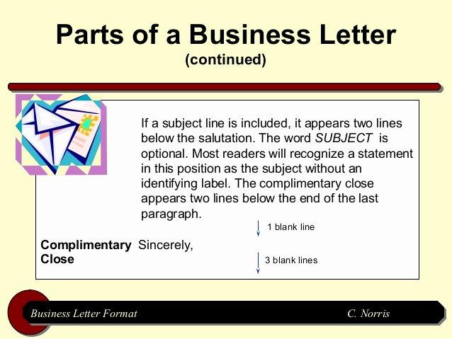 Letter Of Recommendation Subject Line Unique Business Letter format