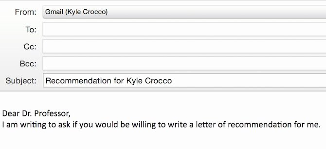 how to email your professor for a letter of reference