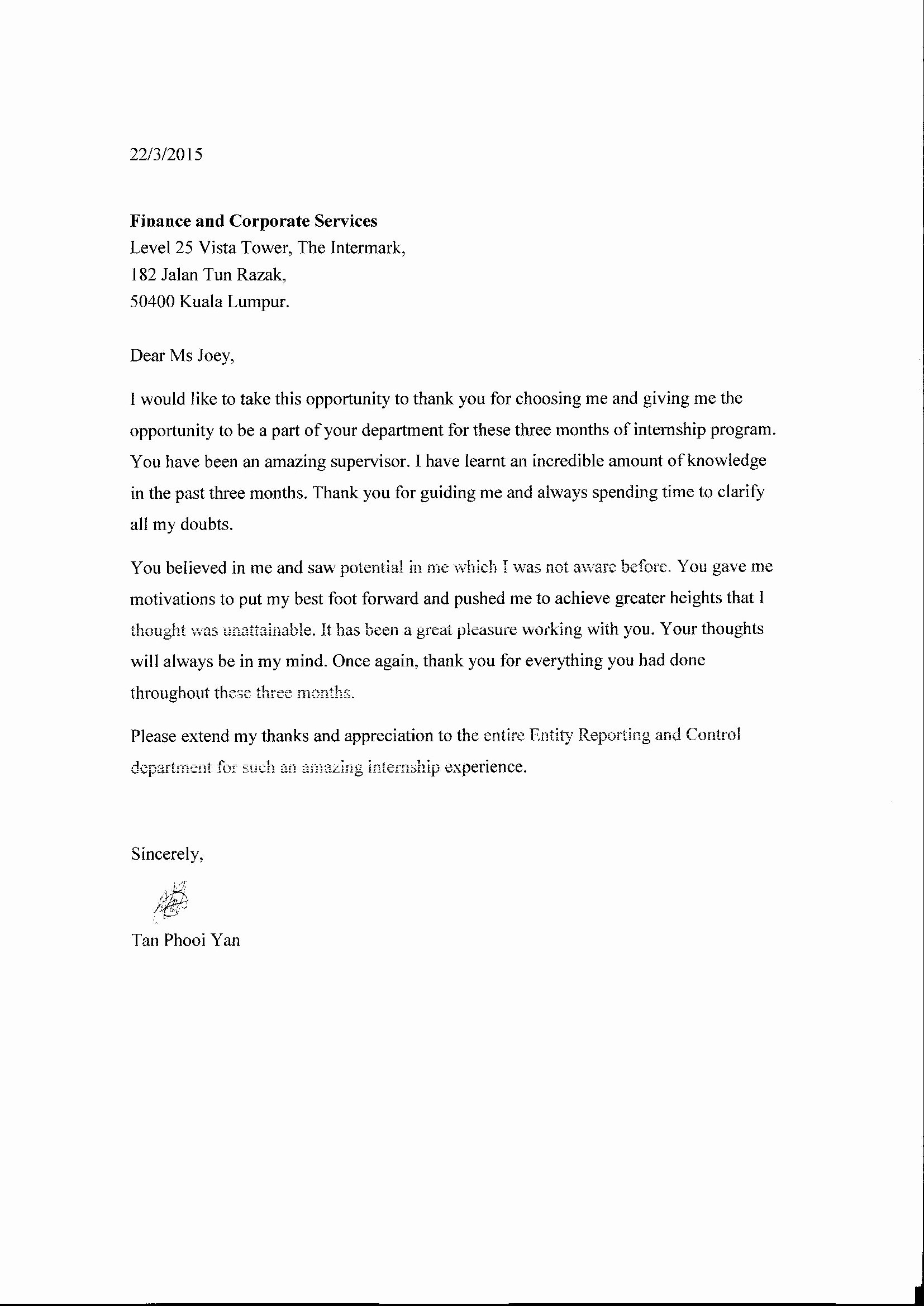 Letter Of Recommendation Thank You Elegant Thank You Letter Reference Letter Tan Phooi Yan