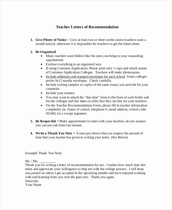 Letter Of Recommendation Thank You Fresh 51 Thank You Letter Example Templates
