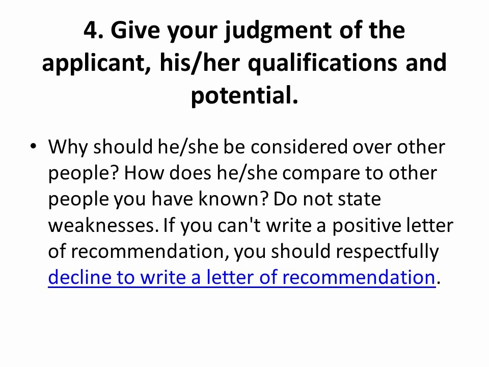 Letter Of Recommendation Weaknesses Examples Awesome Writing A Letter Of Re Mendation Ppt