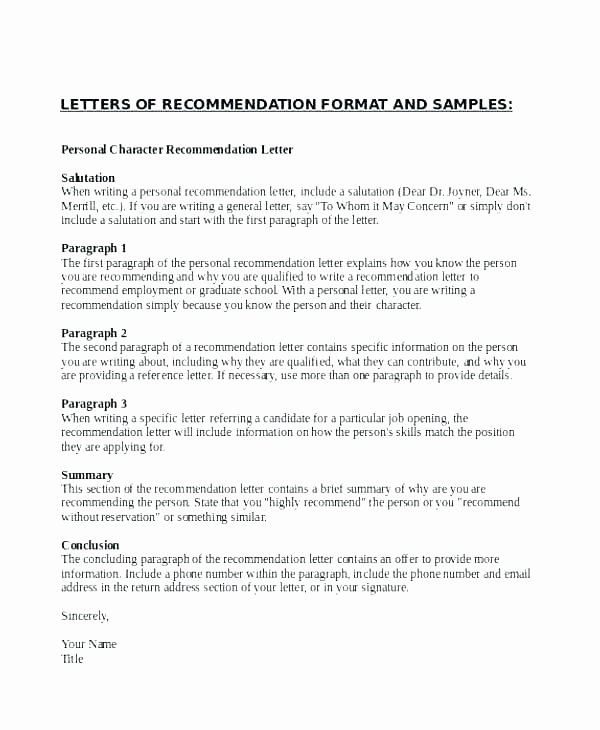 Letter Of Reference Vs Recommendation Inspirational Letter References Reference Template for Resume