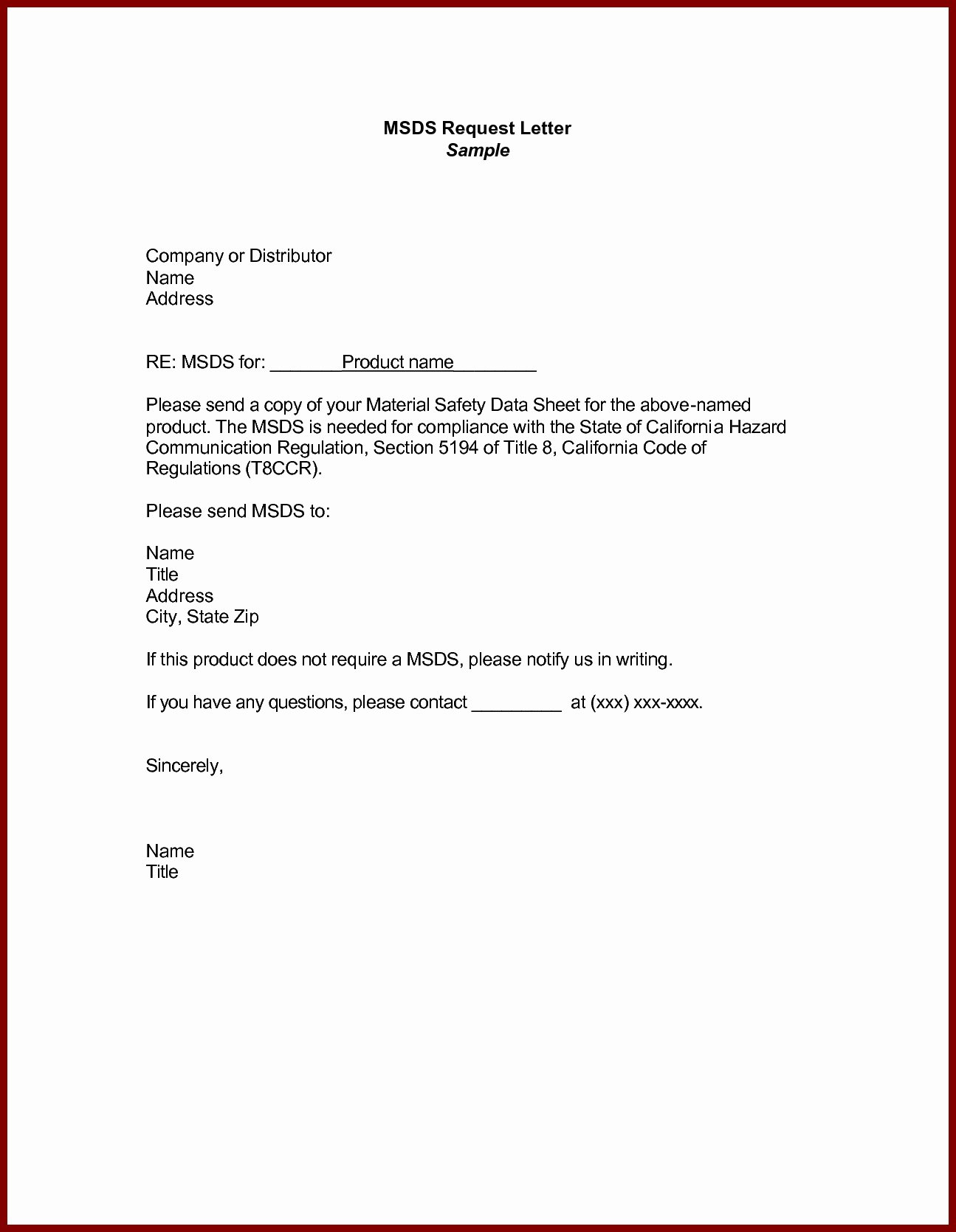 Letter Of Request format Elegant Business Letter Example Request