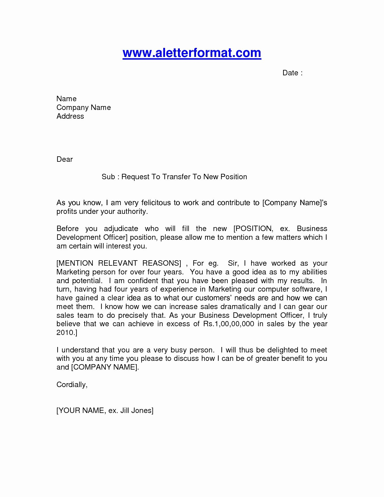 Letter Of Request format Fresh Letter Instruction Template Stock Transfer Collection
