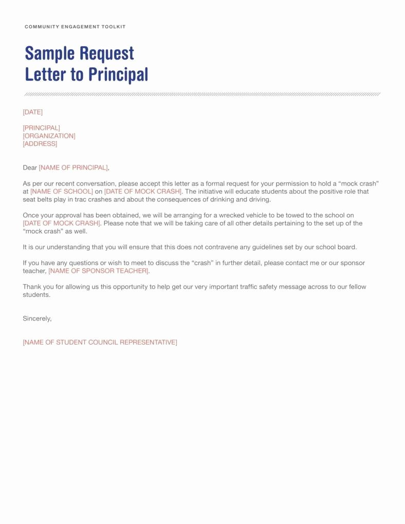 Letter Of Request format Luxury 12 Request Letter to A Principal Templates Pdf
