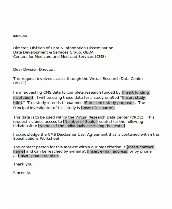 Letter Of Request format New 18 Request Letter Templates Pdf Doc