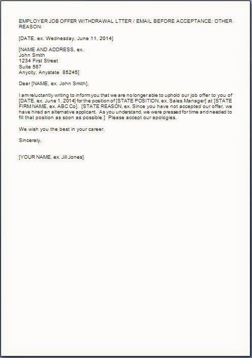 Letter Of Rescission Template Awesome Rescinding Job Fer Letter