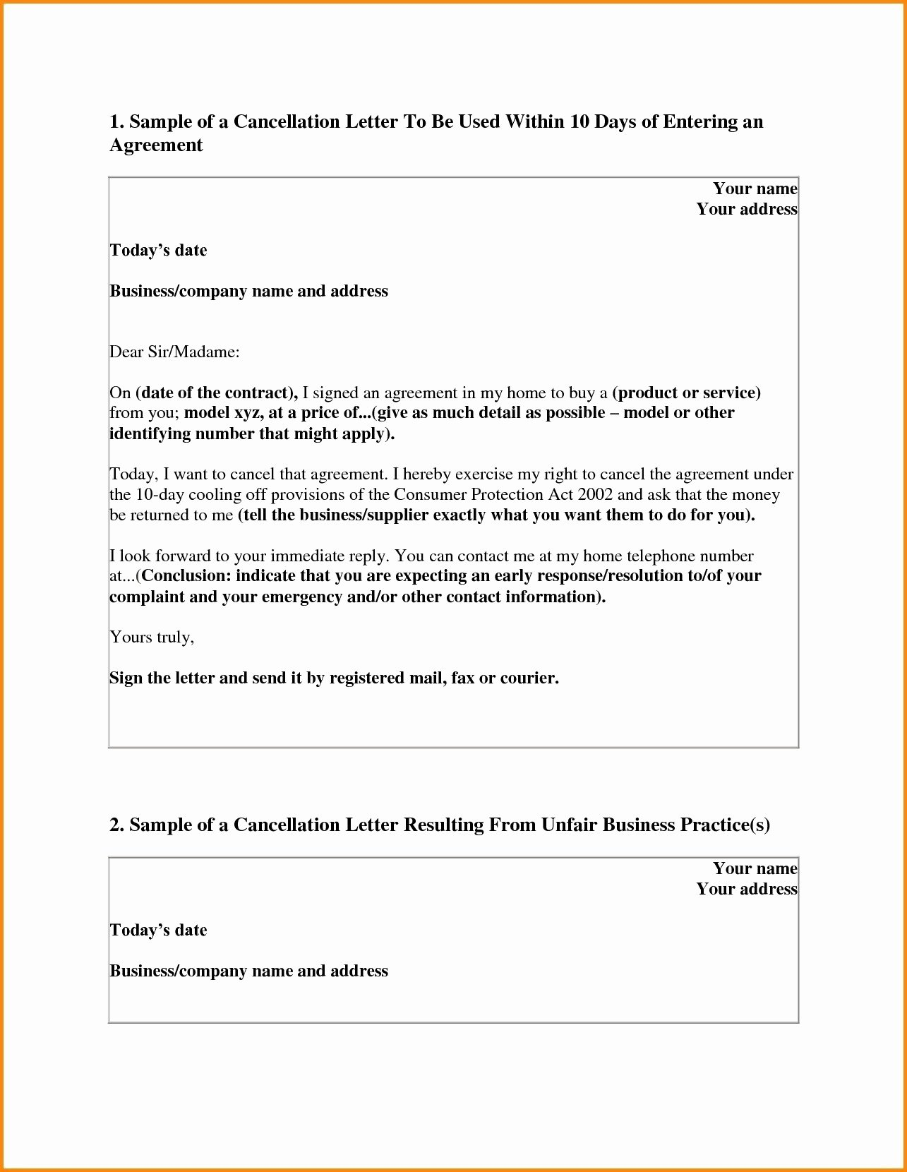 Letter Of Rescission Template Fresh Timeshare Rescission Letter Template Samples