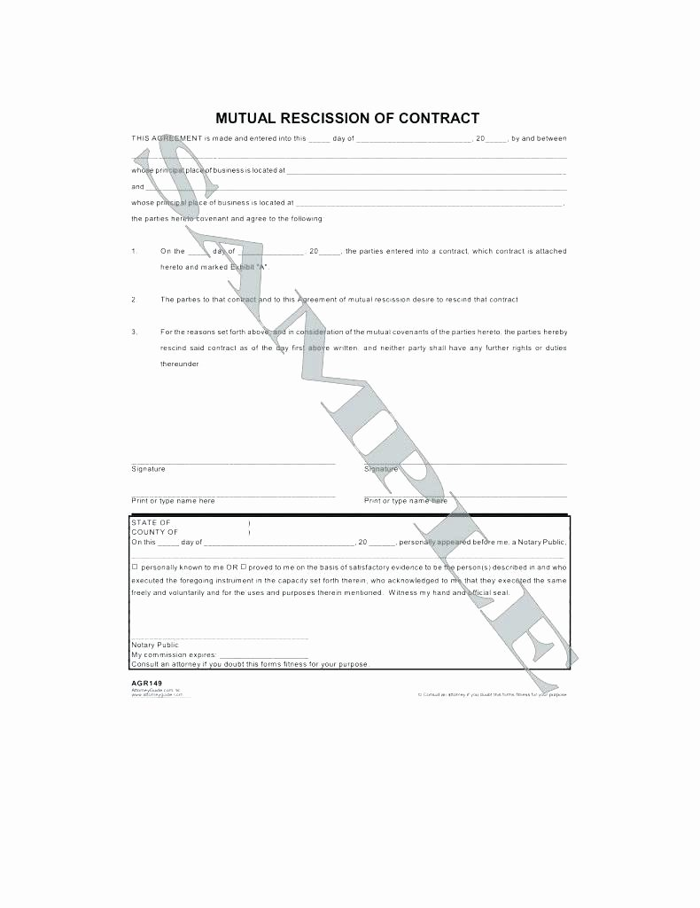 Letter Of Rescission Template New Kinali