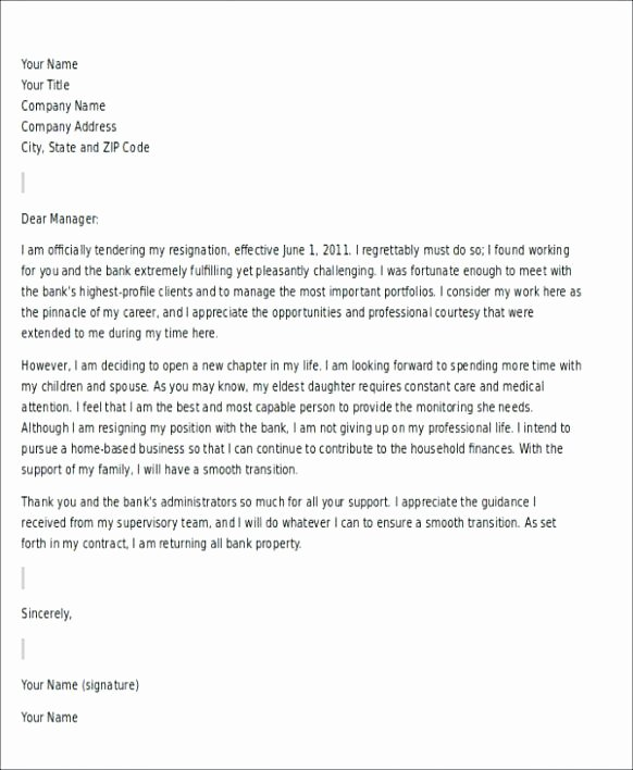 Letter Of Resignation Template Word 2007 Awesome Volunteer Resignation Letter Sample Gallery format formal