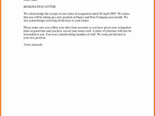 Letter Of Resignation Template Word 2007 Fresh Basic Resignation Letter Samples