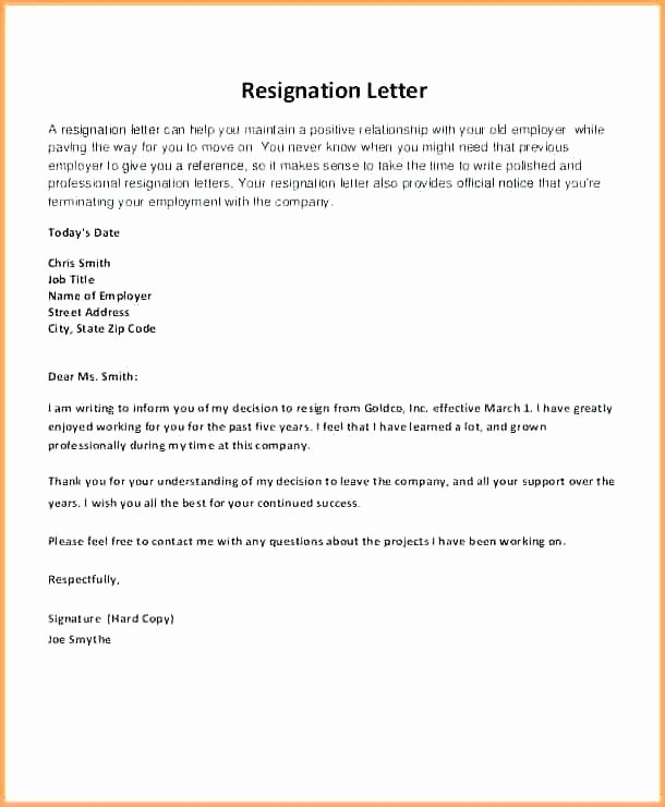 Letter Of Resignation Template Word 2007 Luxury Sample Professional Resignation Letter Template Standard