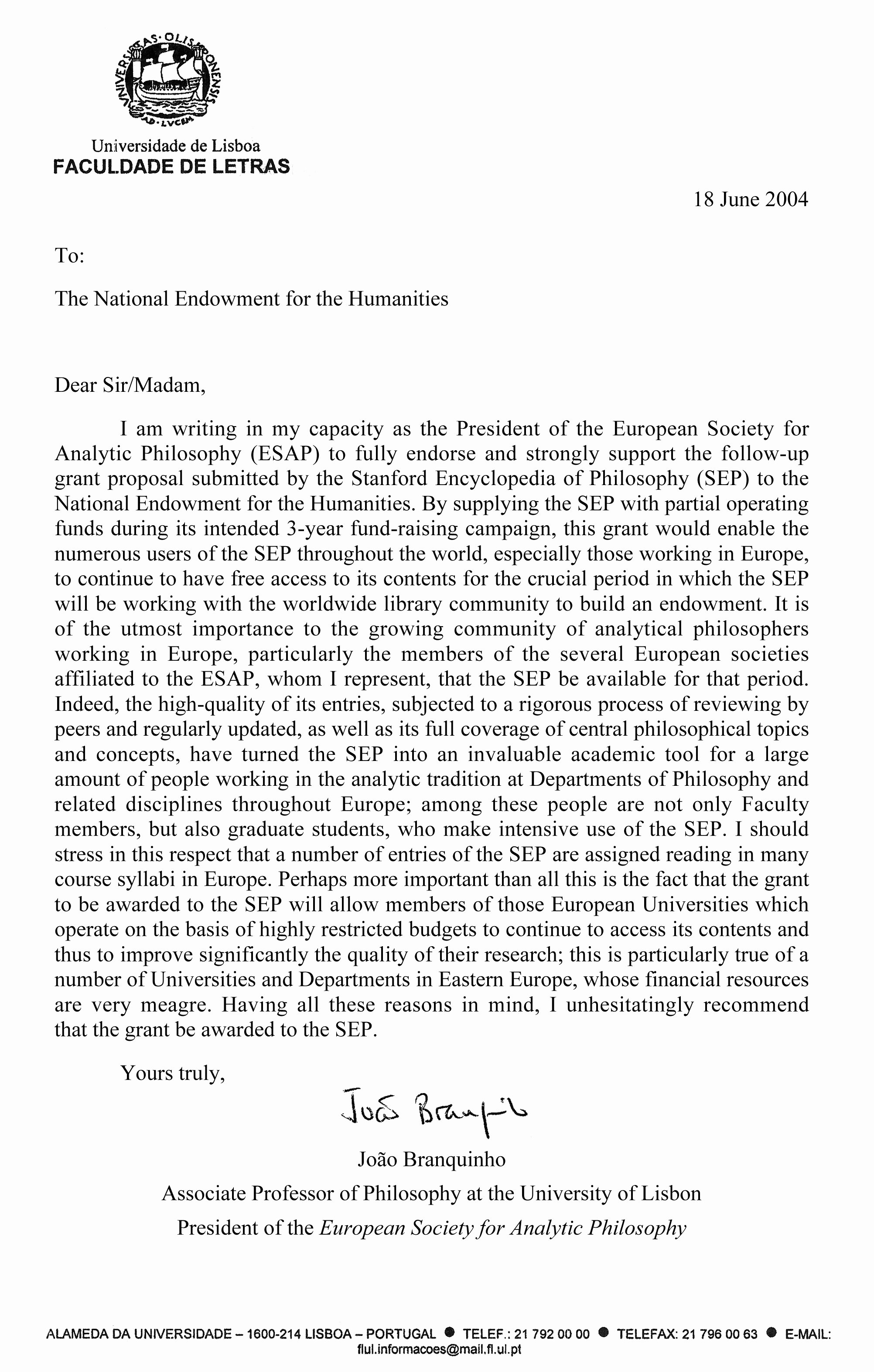 Letter Of Support format Inspirational Esap S Letter In Support Of Neh Grant