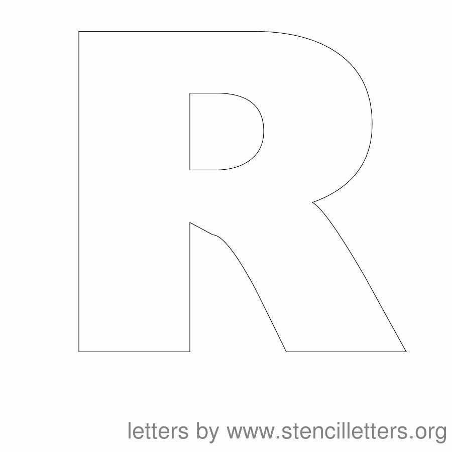 Letter Outline Template Awesome 8 Best Of Letter R Template Printable Free