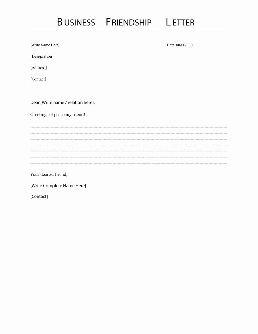 Letter Outline Template Elegant 35 formal Business Letter format Templates & Examples