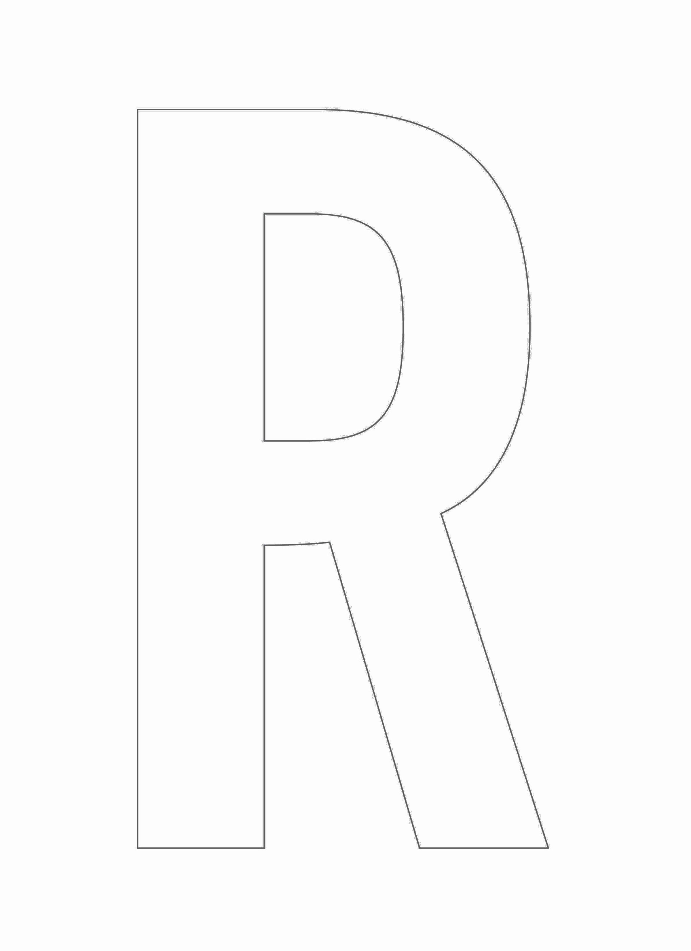 Letter Outline Template Lovely 8 Best Of Letter R Template Printable Free